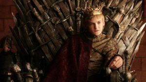 Joffrey Baratheon on the Iron Throne